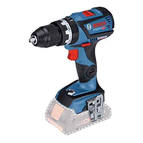 Bosch Professional 18V System accu-klopboormachine GSB 18V-60 C (max. draaimoment: 60 Nm, max. boor Ø: hout/staal/metaal/metaal 38/13/13 mm, Connect Ready, zonder accu's en lader, in doos)