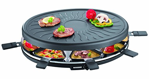 Severin Raclette-partygrill, ca. 1.100 W, incl. 8 pannetjes, RG 2681
