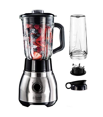 Russell Hobbs 23821-56 2-in-1 Blender, 1,5L, 600W, Roestvrij Staal